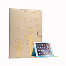 Fashion Faux Leather Dandelion Pattern Auto Sleep Wake Up For iPad Air2 Case Stand Smart Cover