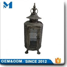 Small Dubai Metal Wrought Islamic Moroccan Star Candle Holder Lantern