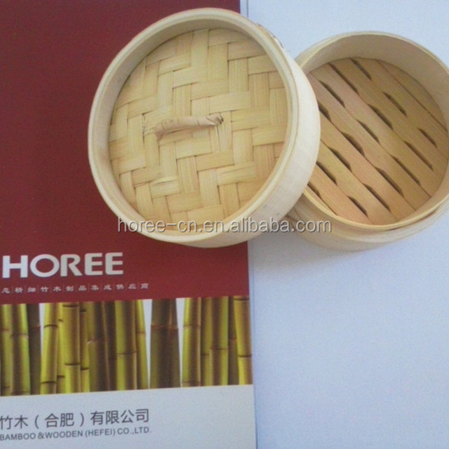 2018 Wholesale Cheap Commercial Bamboo Steamer with 2 layer 1 cover
