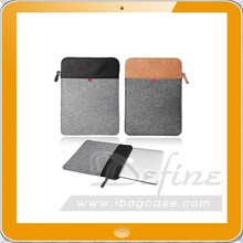Smart Felt Leather Laptop Sleeve Case Cover With ZIP Felt Computer Notebook Bag