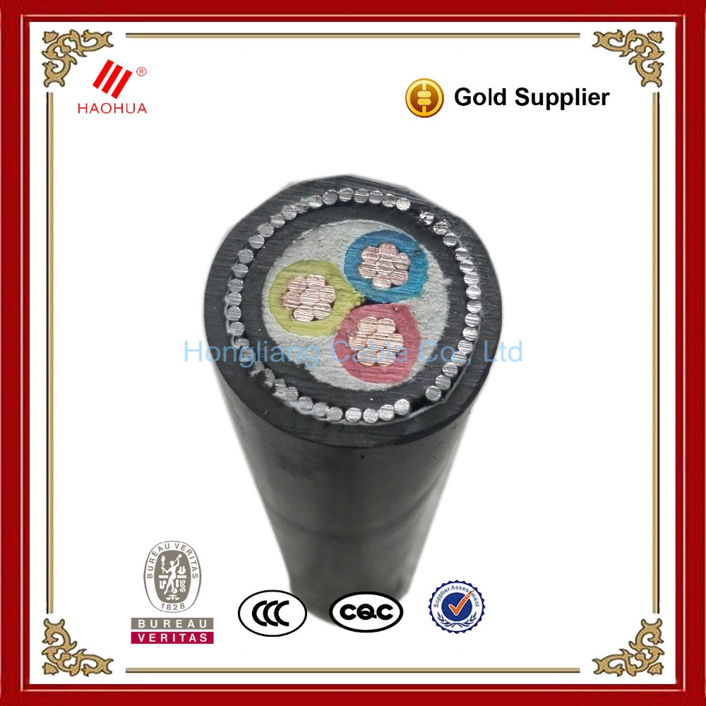 NO.0033- 0.6/1kV low voltage armoured SWA 3 3+1 3+2 4 core power cable 35mm2 copper electrical cable