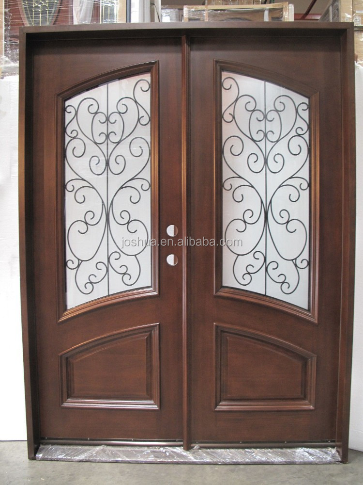 front door entry glass iron
