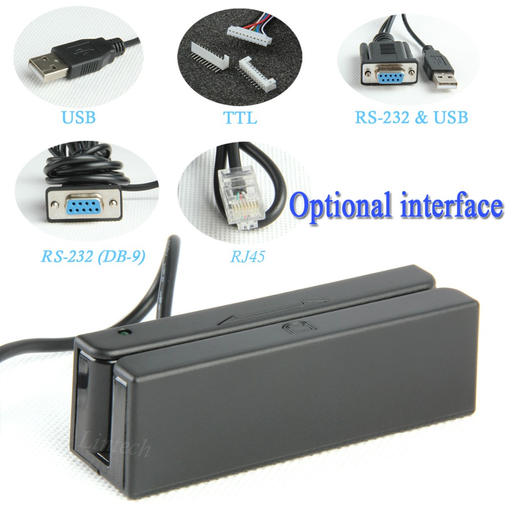 Swipe card reader terminal card swipe machine for ISO AAMVA magnetic card