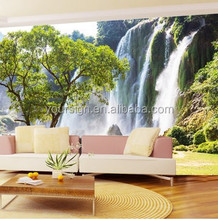 home decoration natural landscape 3D mural wall paper