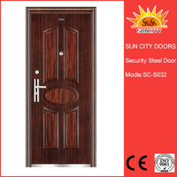 SC-S032 Wholesale products china red indoor steel door,iron steel security door