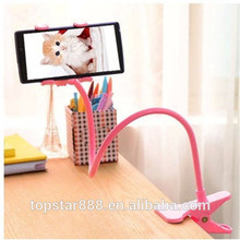 Cell Phone Holder for Desk, Universal Cell Phone Clip Holder Lazy Bracket Flexible Long Arms Cell Phone Holder for Desk