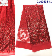 red sequins lace , elengant evening purple color long dress , comfortable hot sale new design african wedding white lace fabric