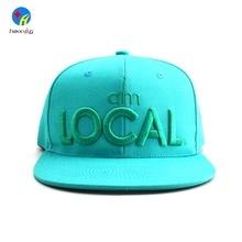 Fashion adjustable 100% acrylic snapback caps 3d embroidery