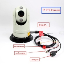 Mini outdoor vehicle mounted CCTV IP PTZ Dome camera security for car