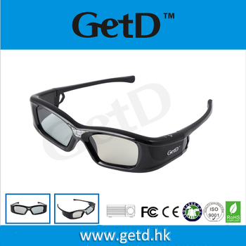 best price active shutter glasses with LCD lens to watch movies at home 3D TV