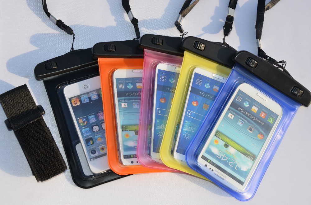 PVC Plastic Fancy Water proof Cell Phone Case With Earphone