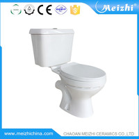 bus toilet two piece sitting wc pan