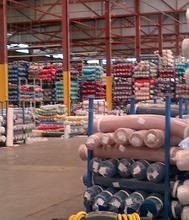 Iso Certificate Metal Foldable Warehouse Stacking Pallet Rack System for Fabric Roll
