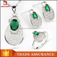 Best selling fashion classical design 925 sterling silver indian bridal jewelry sets online