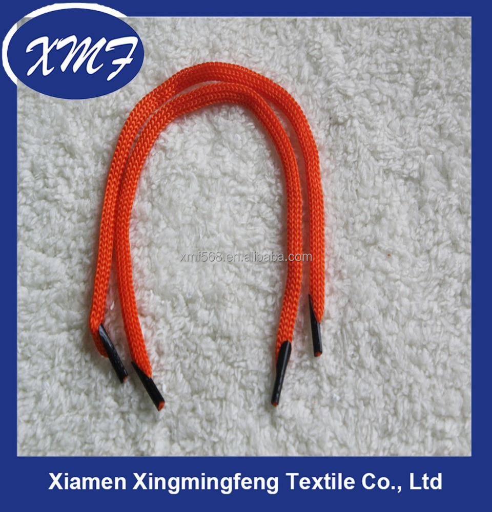 Polyester Handbag handle rope with plastic barb /paper bag rope handle cord