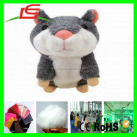 Good Quality pv fleece 25cm plush animal x hamster with pink ears