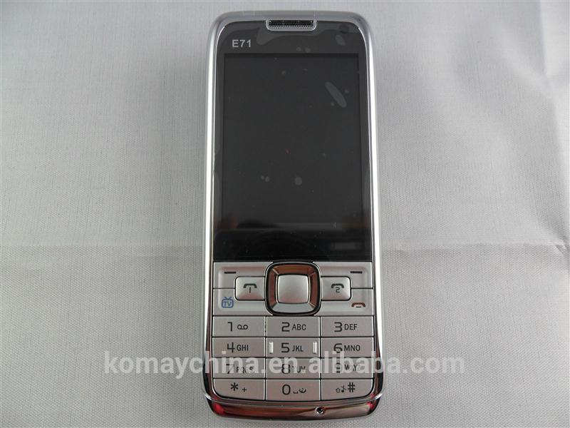 KOMAY lowest price phone dual sim quadband TV Cell phones Mini E71 mobile phone