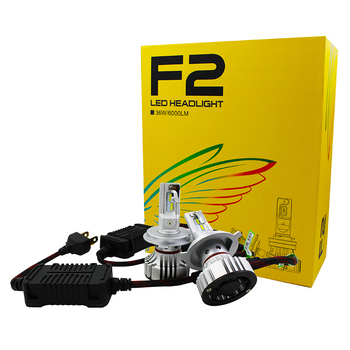 2017 hottest F2 led headlight 6000lm 6000k white h7 auto car led headlight with best beam pattern