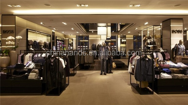 Men`s Clothing Shop Fixtures Wall Display Shelf Design