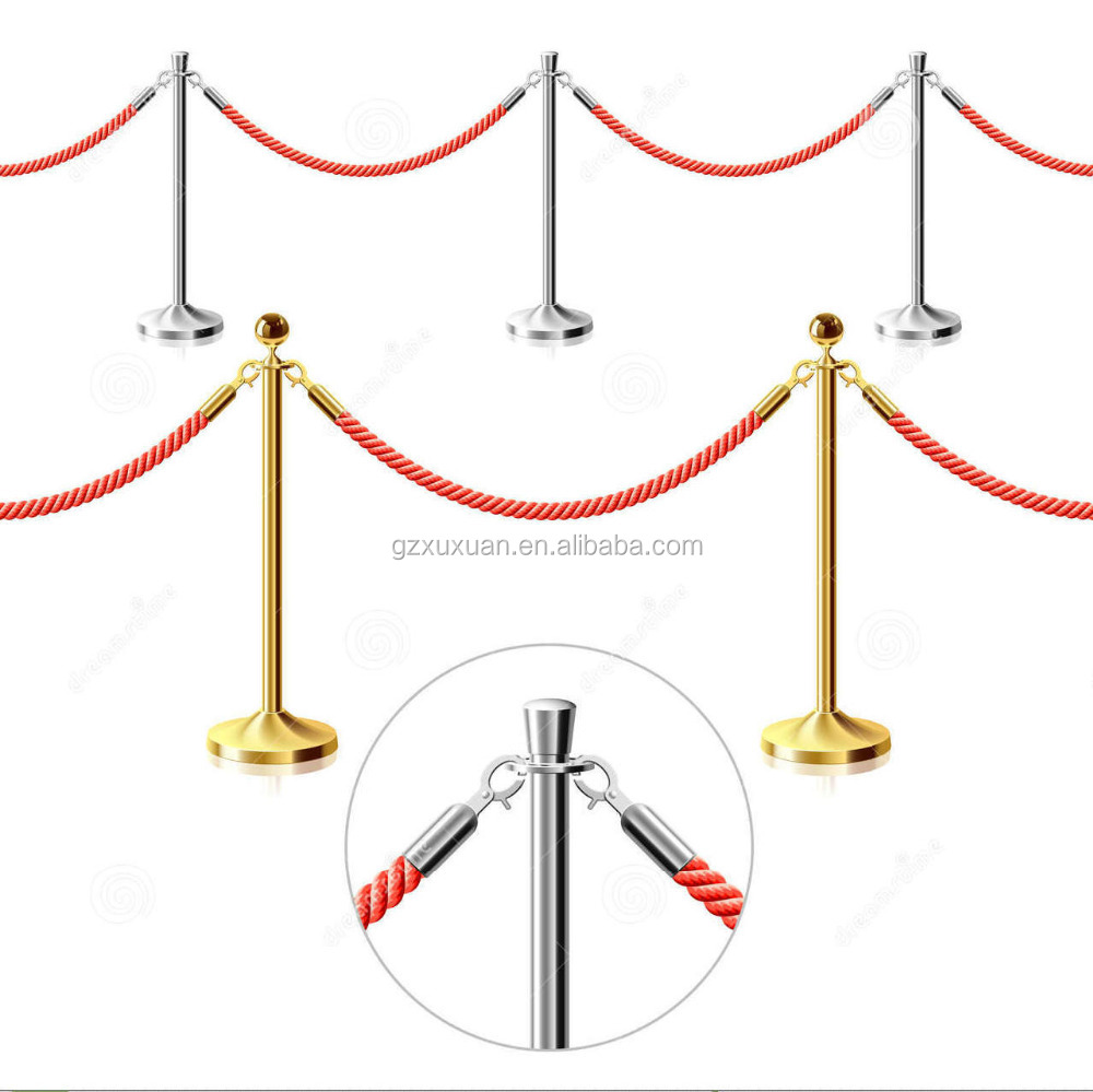 Q Stand & Bank Queue Line Control Barrier with Velvet Rope
