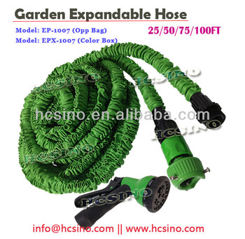 25/50/75/100FT EXPANDABLE GARDEN WATER HOSE WITH SPRAY GUN NOZZLE [EP-1007]