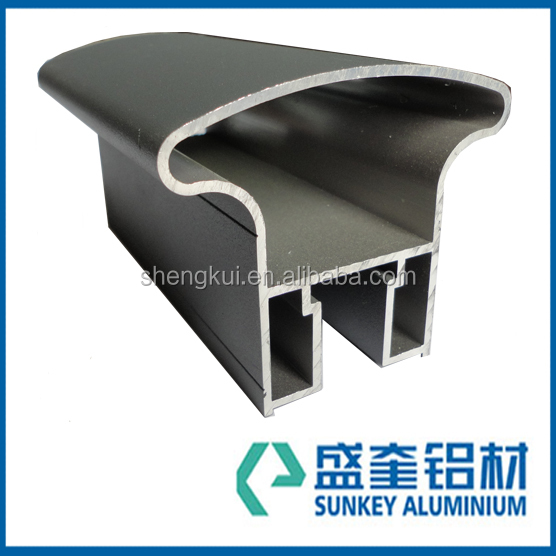 Sunkey industrail aluminium profiles for aluminium extrusion end cap in Zhejiang China
