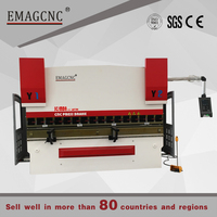 DA52s system 63T 2500mm CNC hydraulic press brake for stainless steel sheet