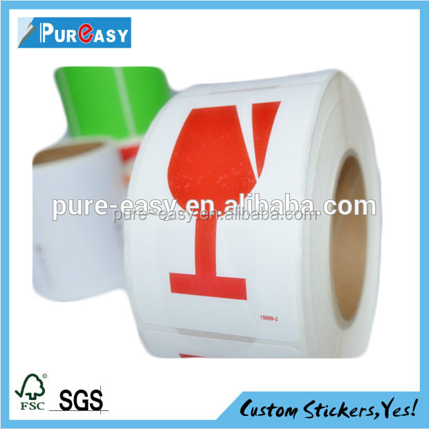 Accept custom paper Fragile labels and shipping stickers