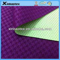 functional fabric in 100%poly interlock and mesh with breathabel film