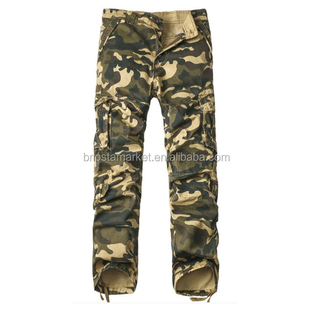 Wholesale Men Casual Camouflage Working Trousers