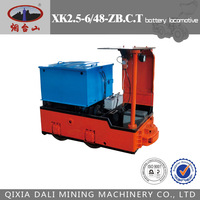 Hightech 2.5t narrow gauge mining battery locomotive for sale