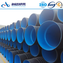 High performance underground hdpe double wall corrugated drainage pipe