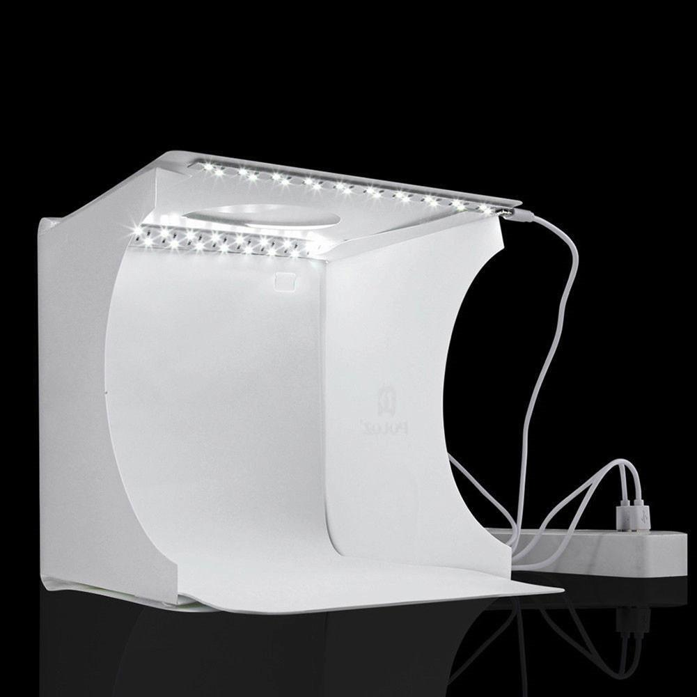 Portable photography Photo Studio Upgraded Version LED Light Box Studio with 1pc LED and Two Backgrounds