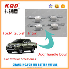 Hot sale chrome door handle bowl covor of Mitsubishi Triton 2016 , Abs plastic door handle bowl/inserts , Auto accessorise