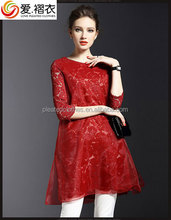 High quality best new fashion pleated dresses FOR LADIES chinese trading company