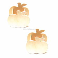 Unique Design Home Decorative Apple Shape Wooden Sundries Storage Box