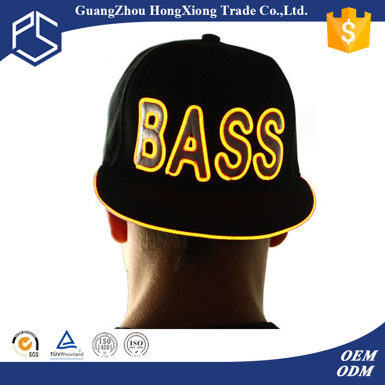 Alibaba wholesale led hats cheap custom high quality led lighted hats and caps