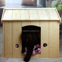 Eco-friendly promotional solid wood pet bed house wholesale wooden waterproof dog house