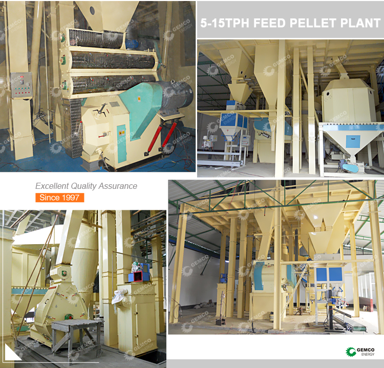 10 ton per hour turn key customized factory price animal feed mill equipment plant layout poultry feed pellet mill