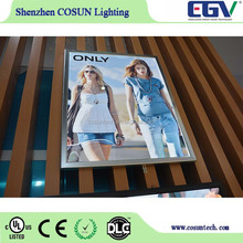 Interior wall decoration led lighting board for poster/advertising/promotion/sale/recommendation/display