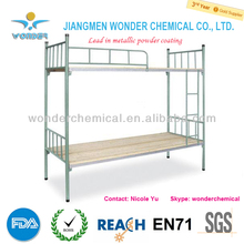 High gloss silver grey metallic mica powder coating for bunk bed