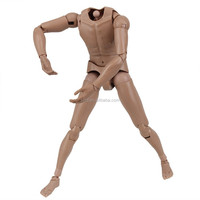 exchangable plastic nude movable action figure