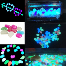 100 Pcs Glow in the Dark Garden Pebbles Glow Stones Rocks for Walkways Garden Path Patio Lawn Garden Yard Decor Luminous stones
