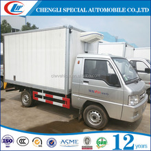Right hand drive Diesel Gasoline Mini refrigerator cooling van truck for sale