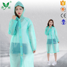 disposable pe poncho fashionble rain poncho eco-friendly outdoor PVC poncho womens rain coat