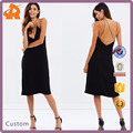 Ladies Western Sexy Night Dress For Women Crossover Backless V-Neck Floral Print Sling Dress