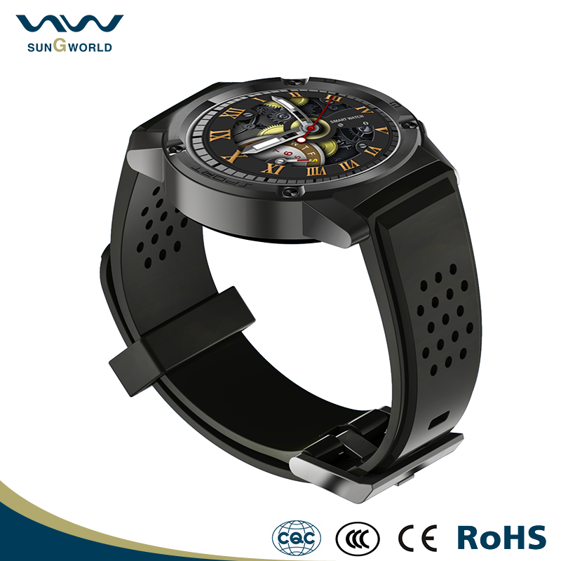 W26 Round Stainless Steel cases MTK2502C smart watch with heart rate monitor for sport wear