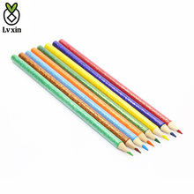 Fashionable Drawing Pencils Glitter Body Wooden Colored Pencils for Girls