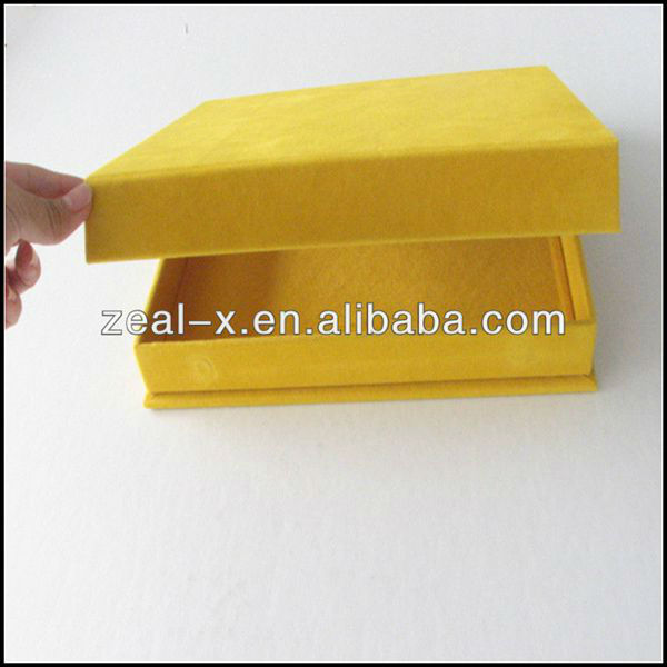 Golden Decorative Fashion Book Shaped Custom Cosmetic Fashion Gift Packing Box