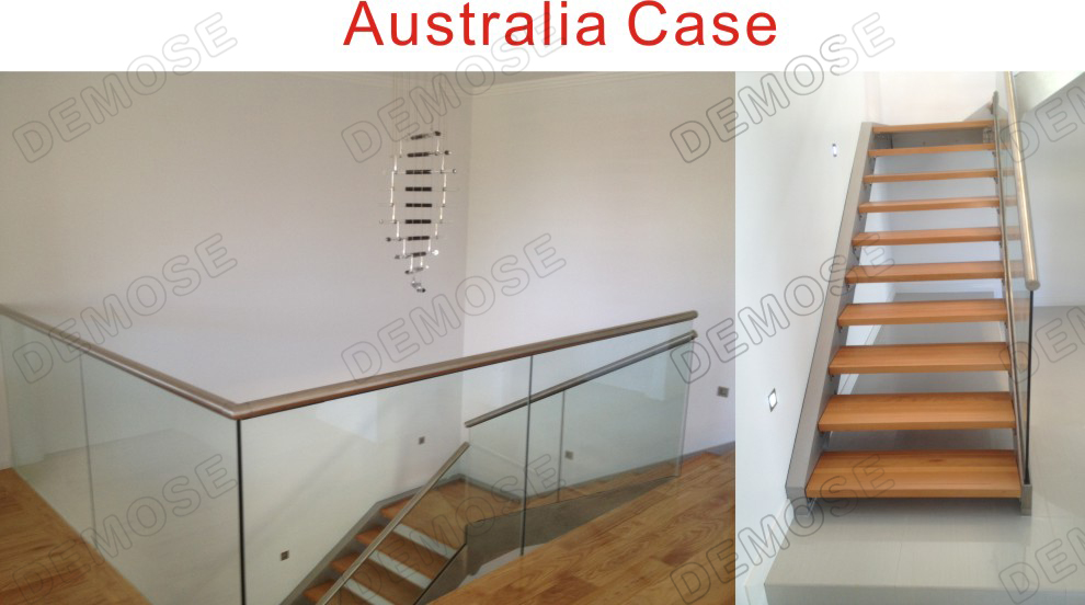 Prefab Stainless Steel Railing System Plexiglass Deck Stairs Railings For  Sale
